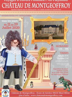 Affiche exposition playmobil chateau de montgeoffroy 2020 dominique bethune