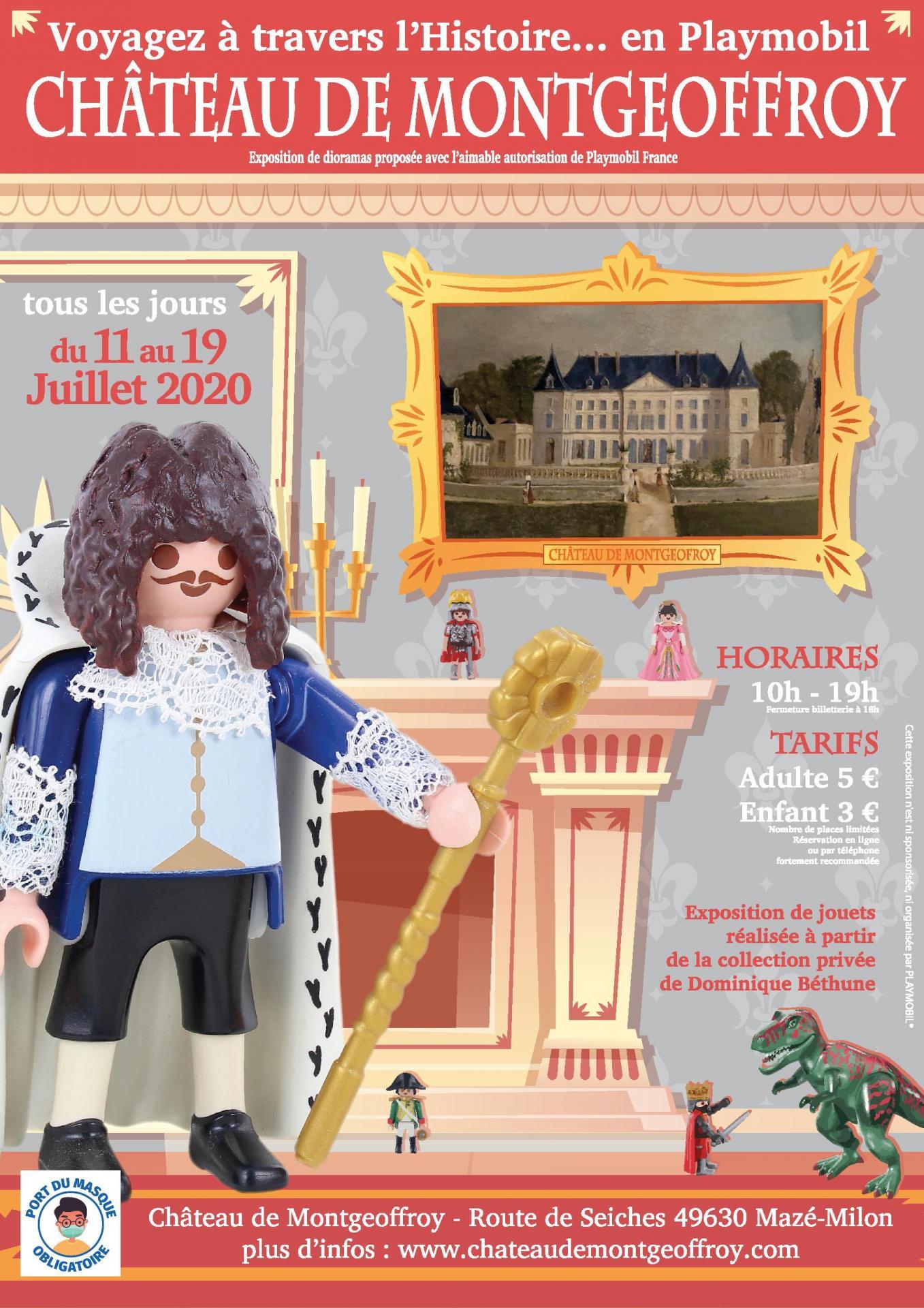 Exposition Playmobil au Château de Montgeoffroy
