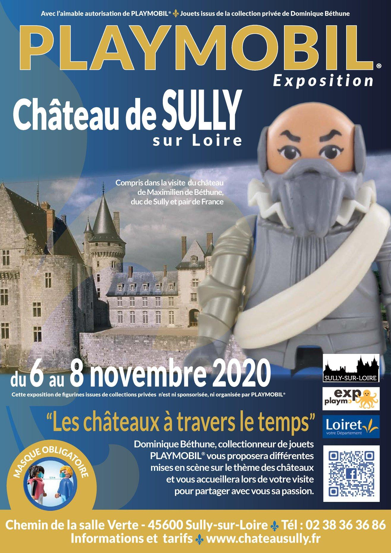 Affiche exposition playmobil chateau de sully 2020