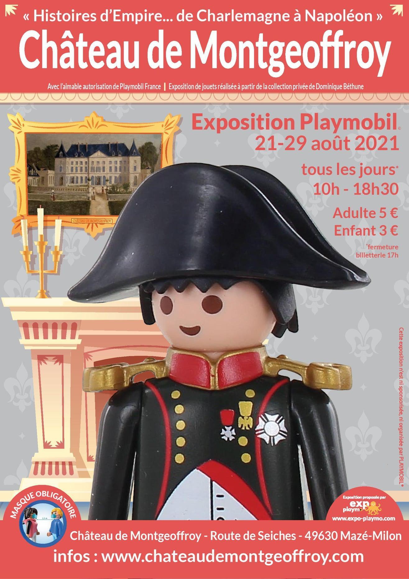 Affiche exposition playmobil chateau montgeoffroy 2021 dominique bethune