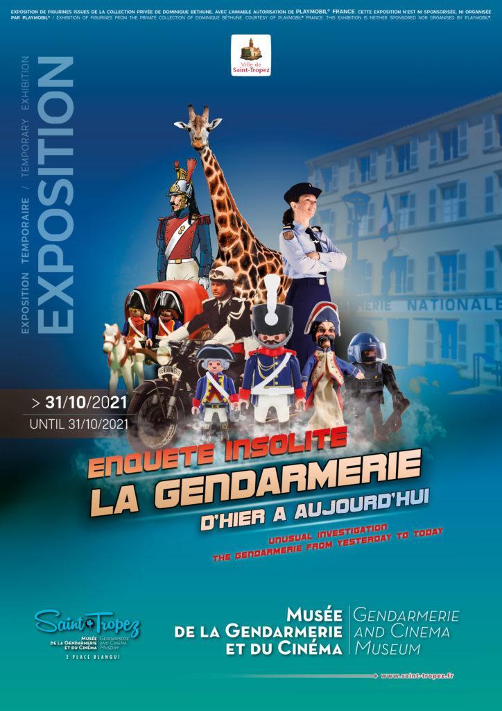 Affiche exposition playmobil gendarmerie saint tropez dominique bethune