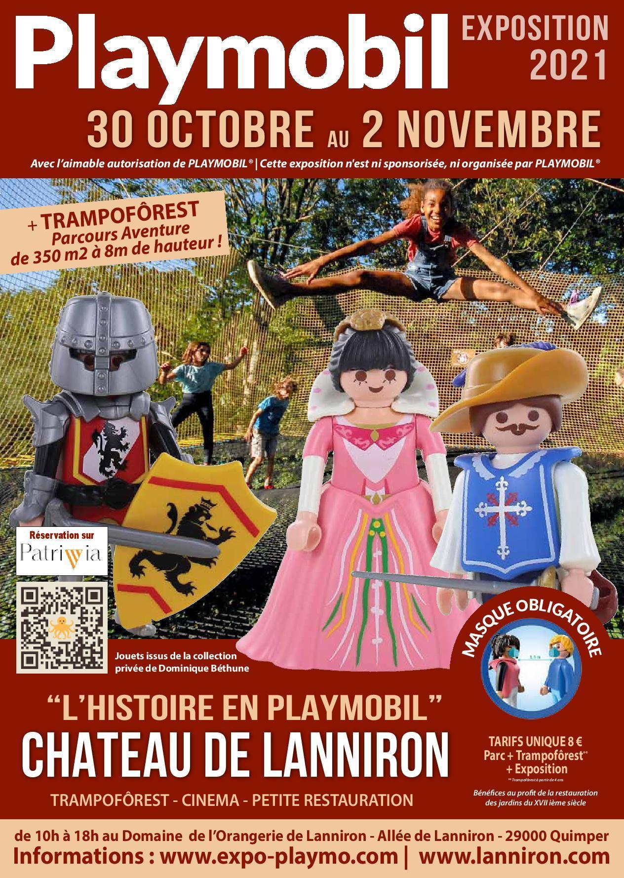 Affiche exposition playmobil lanniron 2021 dominique bethune