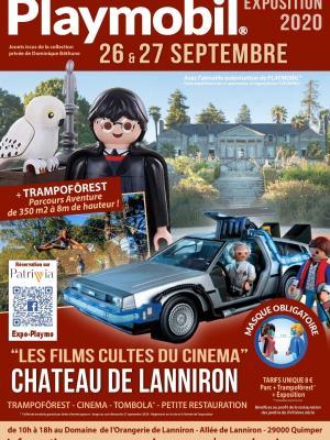 Affiche exposition playmobil lanniron quimper 2020 dominique bethune