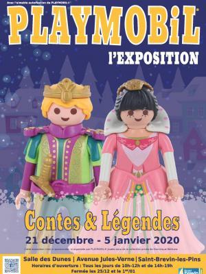 Affiche exposition playmobil saint brevin 2019 dominique bethune