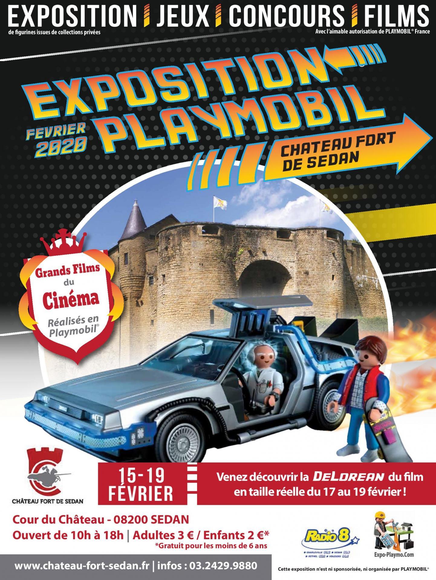 Affiche exposition playmobil sedan 2020