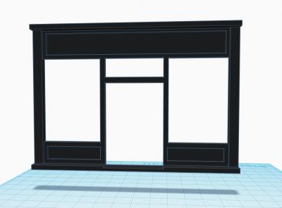 Devanture magasin 1900 v1 pour maison playmobil 5300