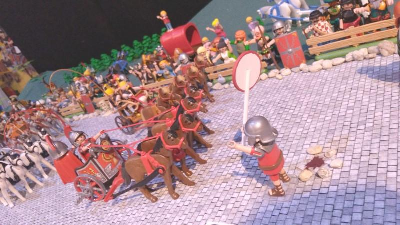 Exemple route pavee diorama playmobil romains