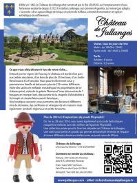 Exposition playmobil chateau de jallanges infos