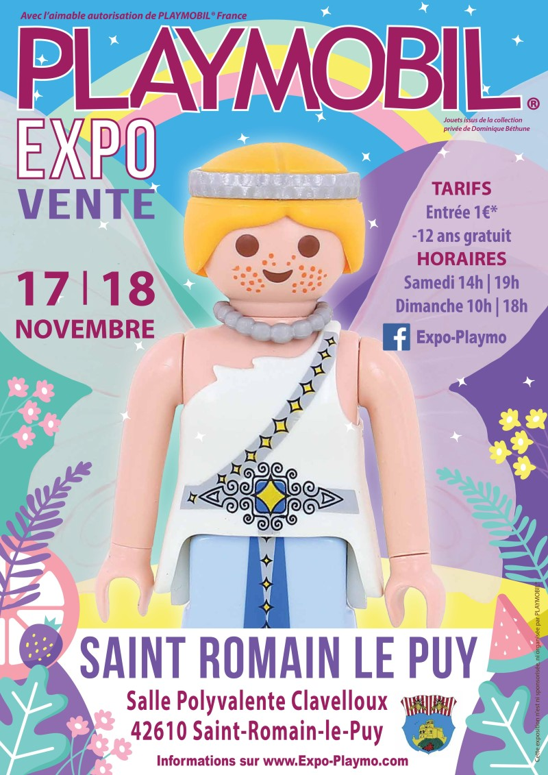 Exposition playmobil saint romain le puy dominique bethune 2018