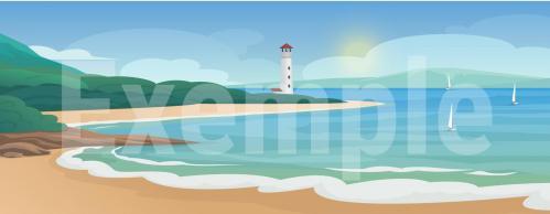 Fond diorama plage