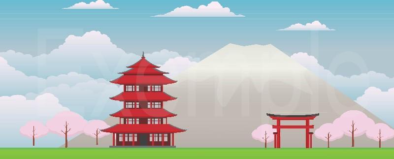 COMMANDER Fond diorama asie pour Playmobil