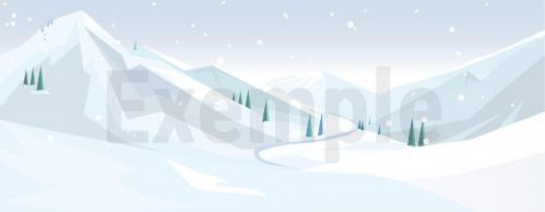 Fond diorama playmobil noel ski montagne
