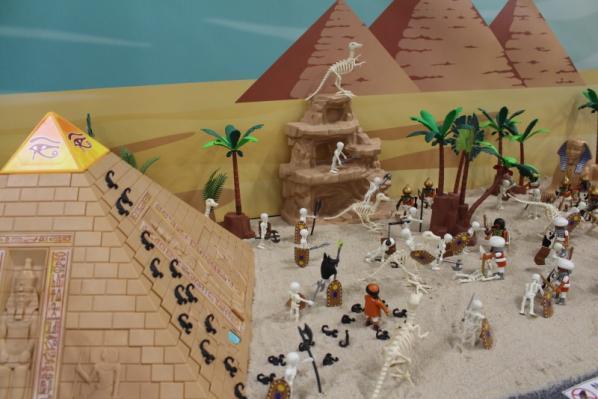 Fond diorama pour playmobil egypte