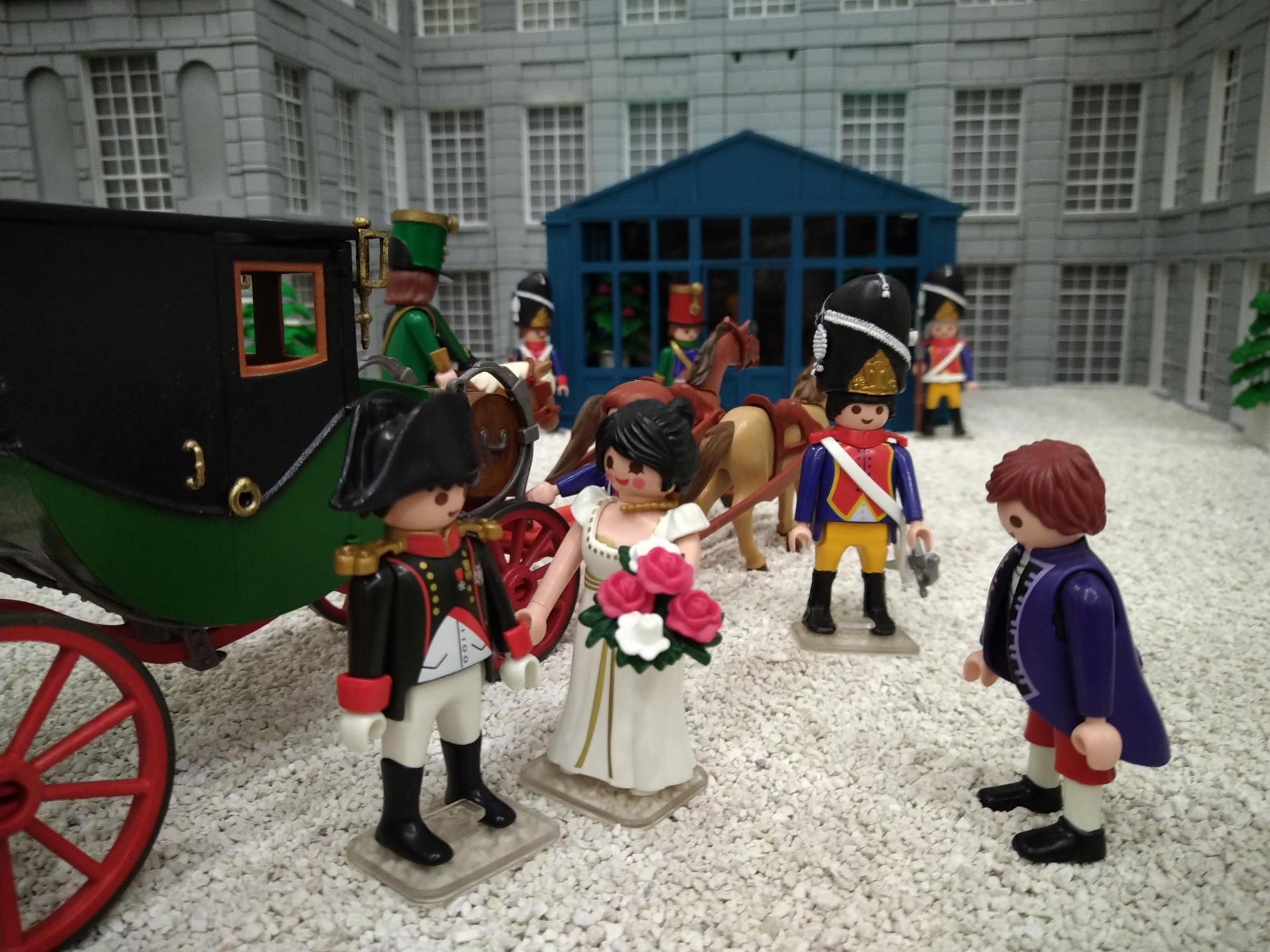 La malmaison et napoleon en playmobil