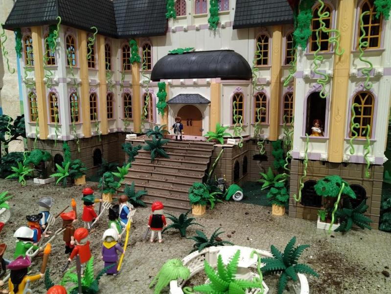 Tapis paves vegetation la belle et la bete en playmobil dominique bethune